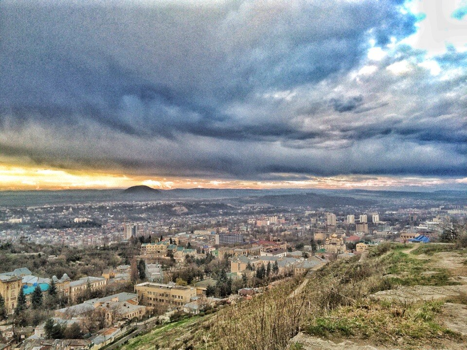 Фото Пятигорска, вид с горы Машук на Цветник