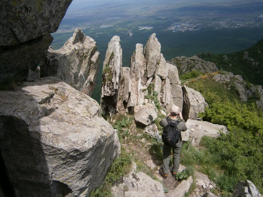 город Пятигорск, гора Бештау, вешина Козьи Скалы, высота 1400 м