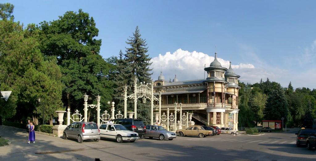 Вход в Цветник, город Пятигорск, курортная зона