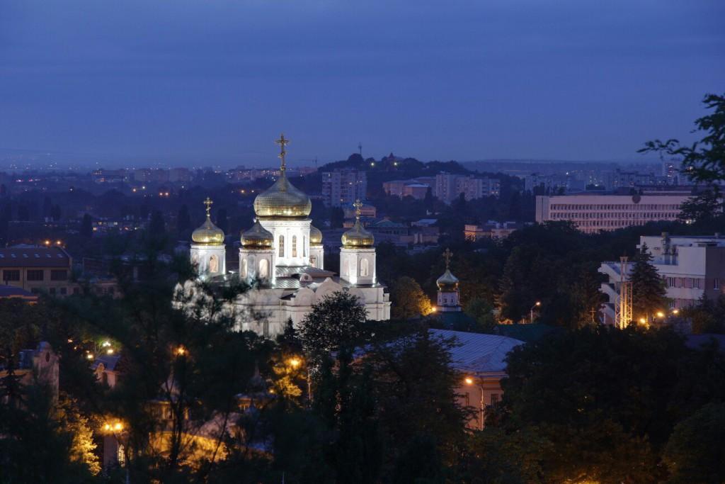 Спасский собор, город Пятигорск, вечер