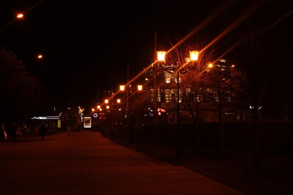 Пятигорск, фотография ночного города, осень