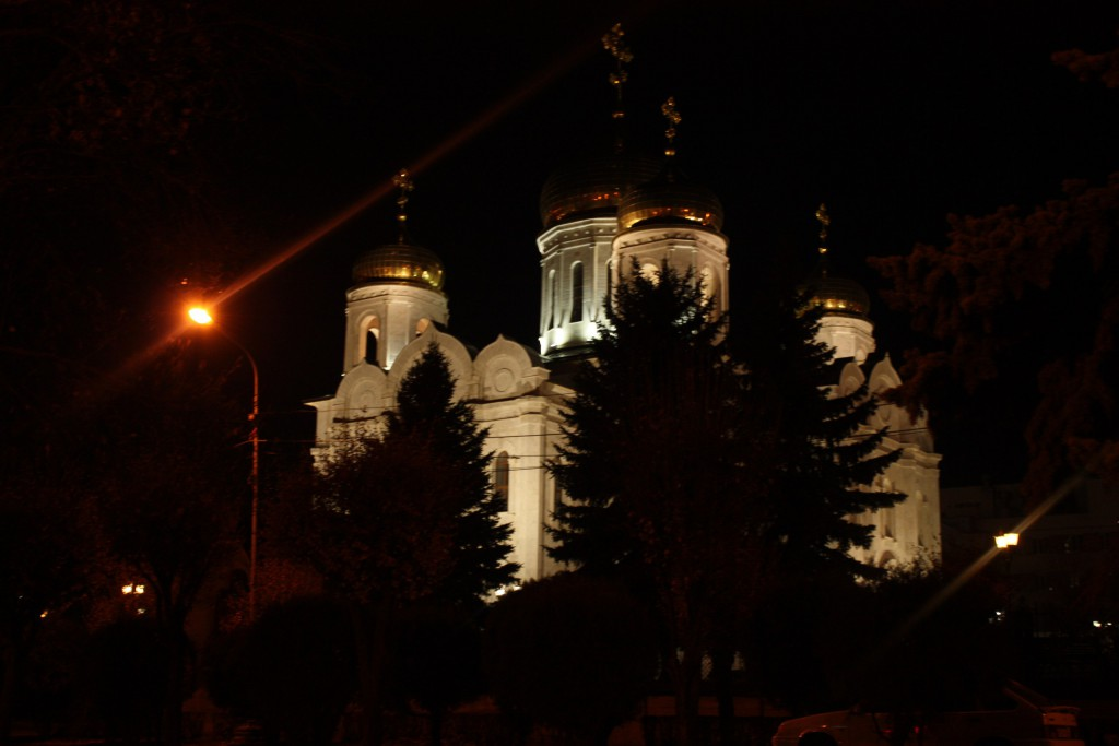 г. Пятигорск, Спасский собор, ночью